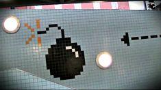 8-Bit Video Game Pixel Tile Art Installation in Stockholm Subway Station