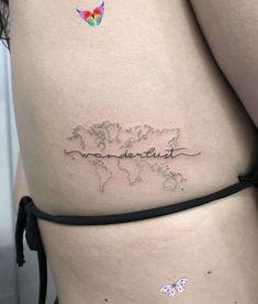 travel tattoo!<br> Mini Tattoos, Foot Tattoos, Small Tattoos, Rib Tattoos For Women, Tattoos For Guys, Wanderlust Tattoos, Wanderlust Quotes, Wanderlust Definition, Incredible Tattoos
