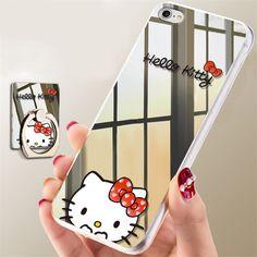 231e2d12521 Estuche Fundas Forro Hello Kitty Espejo Para iPhone 5 5s SE 6 6s Plus 7 8