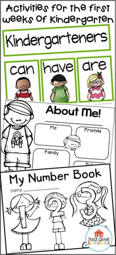 Back to School Kindergarten is ideal for beginning the first weeks of school. It includes first day of school resources, alphabet and numbers books, and interactive activities. It has getting to know friends, the school, the teacher, and About Me activities, along with a craft for a bulletin board display that's perfect for back to school night.