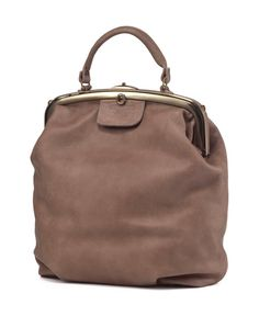 Mocha Leather Tote Bag / Cross Body Office by EllenRubenBagsShoes, $429.00
