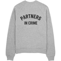 Partners in crime ($35) ❤ liked on Polyvore featuring tops, hoodies, sweatshirts, sweaters, sweatshirt, print sweatshirt, pattern tops, patterned sweatshirt, pattern shirt и print shirts