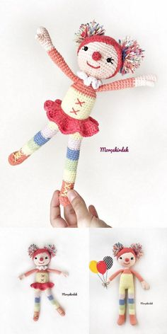 In this article we share with you the best amigrumi baby doll crochet free patterns. Crochet Amigurumi Free Patterns, Crochet Dolls, Crochet For Kids, Crochet Baby, Mini, Crochet Instructions, Little Doll, Amigurumi Doll, Doll Patterns