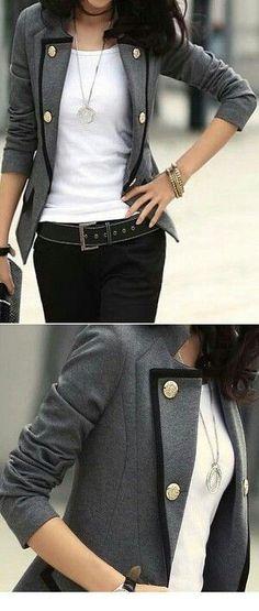 Two toned blazer.