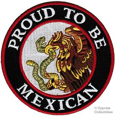 Proud To Be Mexican Embroidered Patch Mexico Flag Iron-On Eagle Snake Biker Emblem: This brand new embroidered patch makes an incredible souvenir for anyone of Mexican descent. Heat-seal backing allows buyer to iron this patch onto virtually any fabric. Biker Patches, Iron On Patches, Mexico Wallpaper, Mexican Art Tattoos, Mexican Artwork, Mexican Revolution, Mexican Flags, Mexican Heritage, Mexico Culture