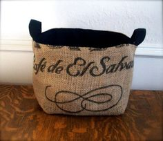 coffee sack baskets <3 Jess Bremer... we must  make these!
