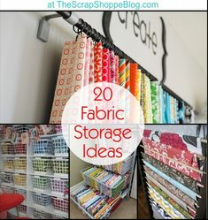 20 Fabric Storage Ideas – Crafty solutions for your craft room! 20 Fabric Storage Ideas – Crafty solutions for your craft room! Sewing Room Storage, Sewing Room Organization, My Sewing Room, Craft Room Storage, Fabric Storage, Sewing Rooms, Craft Rooms, Bobbin Storage, Paper Storage