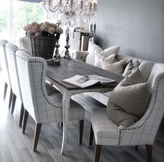 Dinning table with bench seat  Country| Rustic | Hamptons