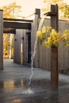 JOARC I ARCHITECTS • architectural details, outdoor shower, summerhouse, mökki