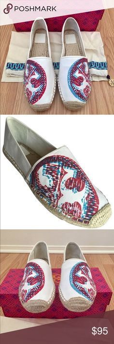 ✨NEW✨Tory Burch Flat Espadrilles Brand new, never worn Tory Burch 3D Logo Flat Espadrilles. My mother purchased & changed her mind. Very comfortable shoes!!Comes with shoe bag and a TB box for storage (not the original, she lost it) Please let me know if you have any questions! Perfect shoe for Spring/Summer! Reasonable offers welcome! Tory Burch Shoes Espadrilles