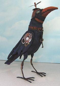 Steam punk crow.