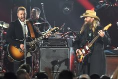 Chris Stapleton (Tennessee Whiskey) and Justin Timberlake (I can't drink you away) teamed up for one of the biggest standout performances of the night at the 2015 CMA Awards.