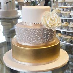 Gorgeous Gold wedding cake