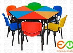 inicio - estanteriasmedellin.com Outdoor Furniture, Outdoor Decor, Table, Home Decor, School Furniture, Wood, Powder Paint, Standing Desks, Decoration Home