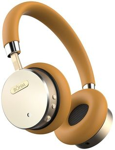 BÖHM Wireless Bluetooth Headphones with Active Noise Cancelling Headphones Technology - Features Enhanced Bass, Inline Microphone & (Max) Battery - Gold/Tan, Best Friend Gifts, Gifts For Friends, Wireless Noise Cancelling Headphones, Wireless Headset, Stereo Headphones, Electronic Deals, Designer Friends, Over Ear Headphones, Accessories