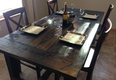 Black Rustic Table Set   The Best Wood Furniture, table, tables, table legs, table legs diy, table legs ideas, table leg ideas, tables diy, tables made from pallets, tables dining, tables decor, tables made out of pallets, tables makeover, tables basses, tables for small kitchen, tables for small spaces, tables for kids, tables for living room, wood table, wood table diy, wood table top, wood tables, wood table legs, wood table rustic, wood table decor, wood table dining