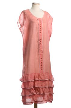 Pink dotted voile dress, homemade, 1920s. From the Cox-Gordon collection at the Charleston Museum.