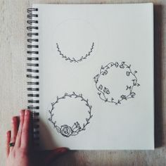 Sketches for embroidery hoop wreaths