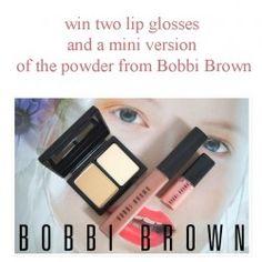 win two lip glosses and a mini version of the powder from Bobbi Brown ^_^ http://www.pintalabios.info/en/fashion-giveaways/view/en/2571 #International #MakeUp #bbloggers #Giweaway
