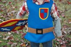 Mike The Knight Inspired Breastplate - Kid Knight Body Armor Costume Chestplate. $40.00, via Etsy.