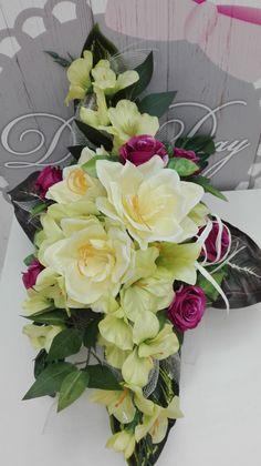 Funeral Flower Arrangements, Funeral Flowers, Floral Arrangements, Flowers For Mom, Diy Centerpieces, Flower Bouquet Wedding, Ikebana, Flower Crafts, Flower Making