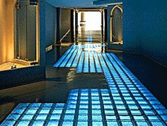 Structural Glass Floor Bridge Walkway Staircase, Glass Block Paver Flooring - Innovate Building Solutions