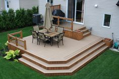 20 Insanely Cool Multi Level Deck Ideas For Your Home! 2019 Best Multi Level Deck Design Ideas For Your Home! The post 20 Insanely Cool Multi Level Deck Ideas For Your Home! 2019 appeared first on Deck ideas. Design Patio, Veranda Design, Patio Deck Designs, Deck Design Plans, Porch Designs, Exterior Design, Patio Plan, Backyard Patio, Backyard Ideas