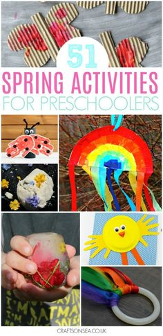 spring activities for preschoolerNeed some spring activities for preschoolers? We've got all the inspiration you need with crafts, sensory play and easy activities with ideas for suncatchers, paper plate crafts, sensory bins, numeracy and literacy activities and loads more - everything you need in one place! #spring #kidsactivities #preschool #preschoolers #kidscraft