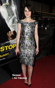 Fabulously Spotted: Michelle Dockery Wearing Christian Dior - 'Non-Stop' LA Premiere  - http://www.becauseiamfabulous.com/2014/02/michelle-dockery-wearing-christian-dior-non-stop-la-premiere/