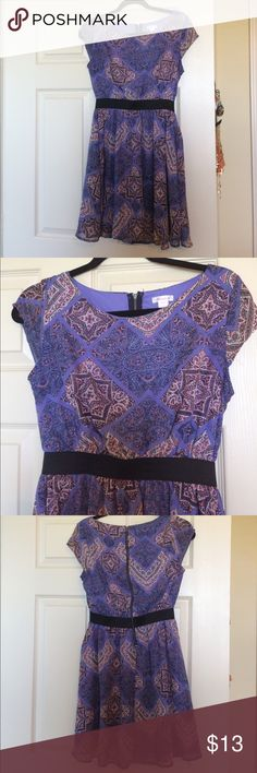 Xhileration Purple dress Cute purple cap sleeve dress! Perfect to wear to work! Xhilaration Dresses