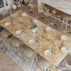 Upgrade Your Luxury Dining Room Design and Enjoy A Fine Dining Experience In The Comfort Of Your Home! #bocadolobo #luxurydesign #luxuryfurniture #contemporarydesign #interiordesign #designideas #diningroom #diningroomdecor
