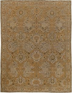 Antique Indian Rug with floral ornaments. Interior decor with antique ornamental rug #rug #interior #decor