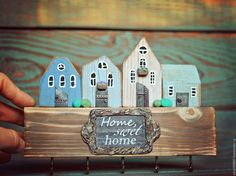"Ключница ""Home swеet home"" - Алиса. Авторский декупаж. - Ярмарка Мастеров http://www.livemaster.ru/item/18455375-dlya-doma-i-interera-klyuchnitsa-home-sweet-home"