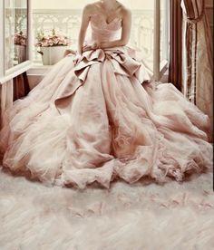 Rose robe mariée ceremonie mariage