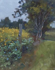 Yellow Creek Morning Glorys by Todd Derr Oil ~ 10 x 8
