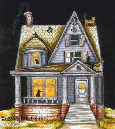 HAUNTED+HOUSE by+federicofantasyart