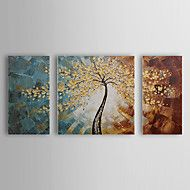 Hand-Painted Floral/BotanicalPastoral Three Panels Canvas Oil Painting For Home Decoration – GBP £ 49.19