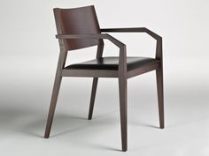 Oak chair with armrests MAGISTRA by i 4 Mariani design Alessandro Dubini