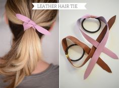 Leather Hair Tie - Bildanleitung