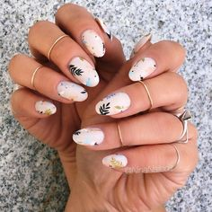 "If you're unfamiliar with nail trends and you hear the words ""coffin nails,"" what comes to mind? It's not nails with coffins drawn on them. It's long nails with a square tip, and the look has. Acrylic Nail Designs, Nail Art Designs, Acrylic Nails, Nails Design, Coffin Nails, Fun Nails, Pretty Nails, Nails Kylie Jenner, Floral Nail Art"