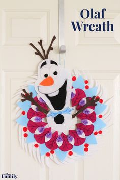 In the latest Disney featurette Olaf's Frozen Adventure, our favorite snowman does all that he can to create memorable family traditions for Anna and Elsa. While on his journey, he comes across a beautiful wreath—inspiring us to create a replica for our own homes, including Olaf of course! Click for the Olaf Wreath tutorial.