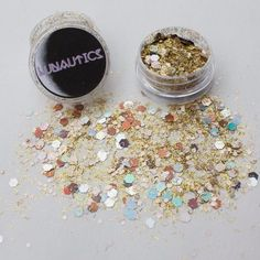 This chunky gold mix is made with 5 unique sizes of glitter, with a dusting of holographic stars. Perfect for any time you want to shine. Lunautics Moon Dust glitter was inspired by the beautiful face