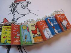 Dr. Seuss Miniature Book Bracelet by LittleLiterature on Etsy