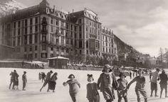 WINTERFREUDEN ❄️ im KRONENHOF #5 Schlittschuhlaufen gehört immer dazu ... seit 170 Jahren ;-) #GrandHotel #Kronenhof #Pontresina #WinterferienmitSTIL