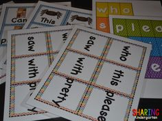 word station, stations classroom, sight word