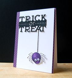 Dangling Spider Card by Cristina Kowalczyk for Papertrey Ink (August 2013)