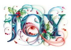 Beautiful quilled Christmas design. I love this!!
