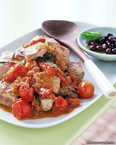 Seared Tuna with Tomatoes and Basil Recipe
