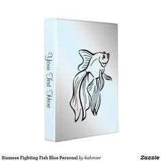 Siamese Fighting Fish Blue Personal Mini Binder 40% off
