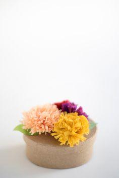 Fall Chrysanthemum Flower Favors DIY | Oh Happy Day!